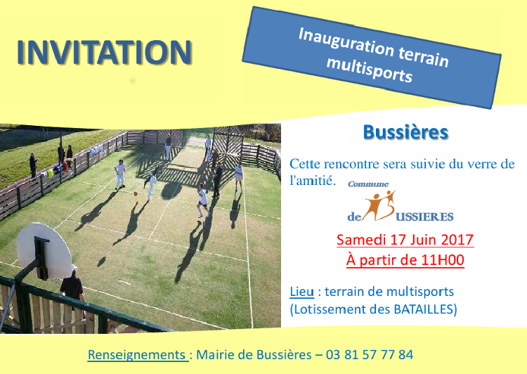 Inauguration Du Terrain Multisport Mairie De Bussieres