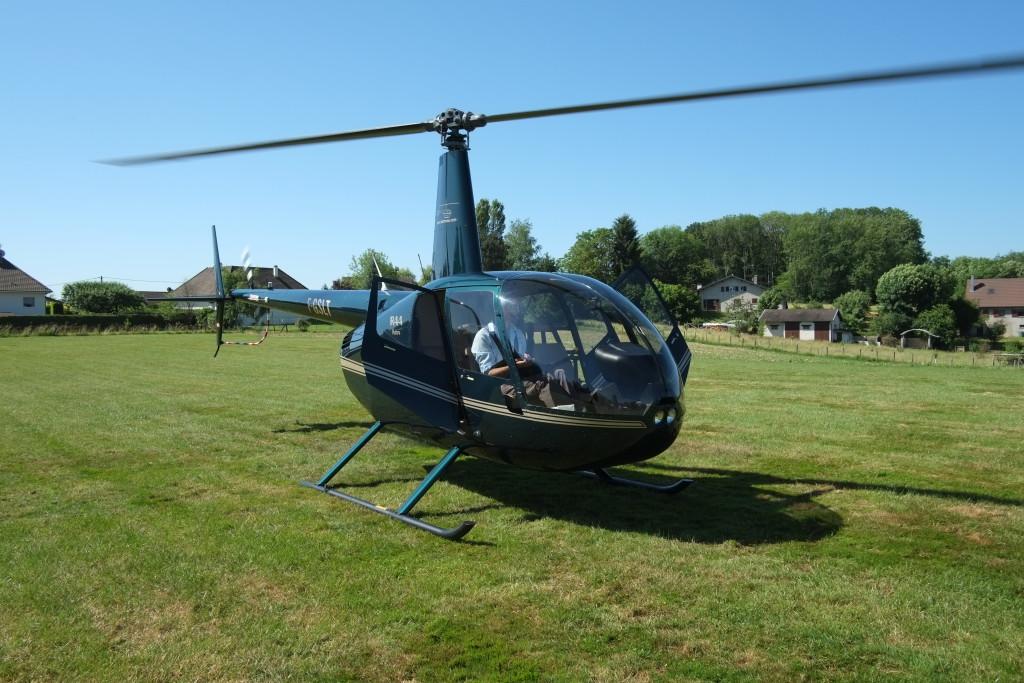 L'hélicoptère au départ de la Dame Blanche
