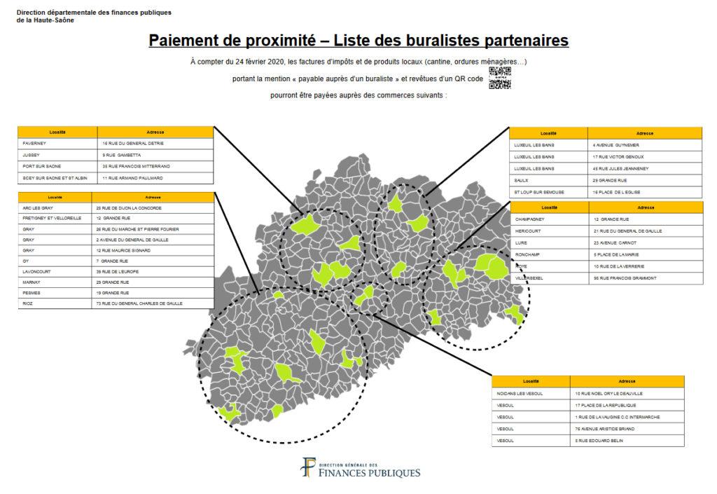 Carte des buralistes partenaires